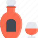 alcohol, bar, club, cognac, holiday, party icon