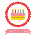 birthday, cake, candles, celebration, food, happy, party icon