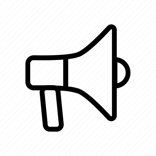 bullhorn, marketing, megaphone, notice, party icon