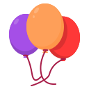 ballon, newyears, party icon