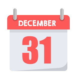 calender, newyears, party icon