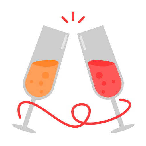champagne, newyears, party icon