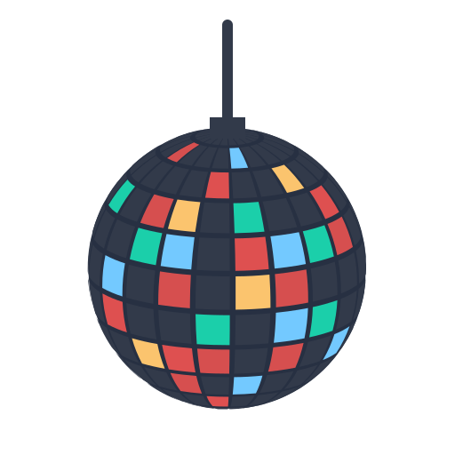 disco, lamp, newyears, party icon