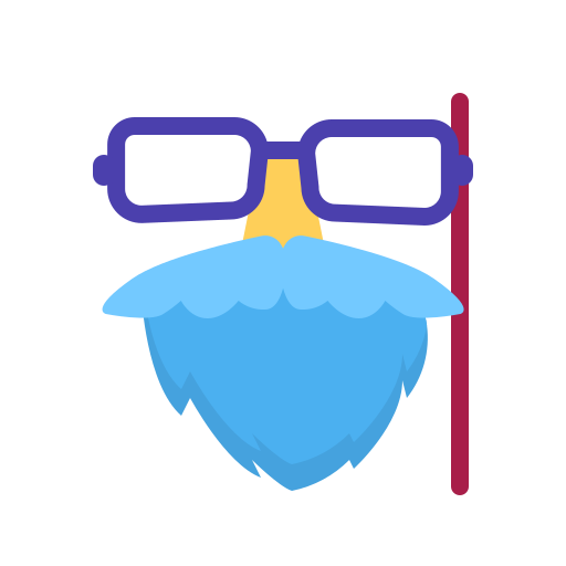 eyeglass, mask, newyears, party icon