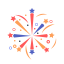 firework, newyears, party icon