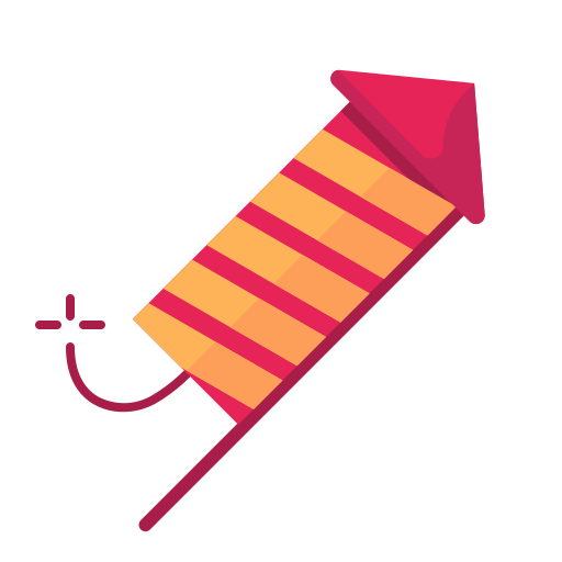 newyears, party, rocket icon