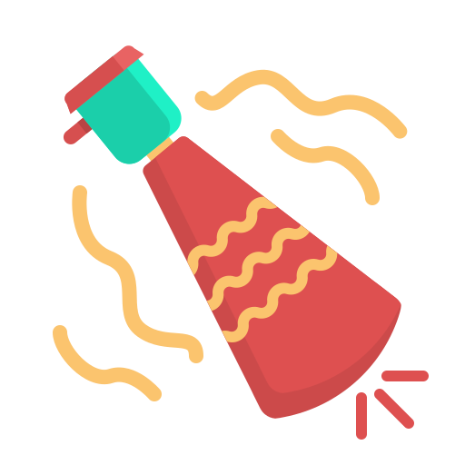 newyears, party, trumpet icon