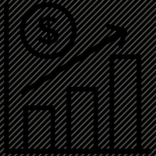 analytics, bar chart, bar graph, growth chart, infographic icon