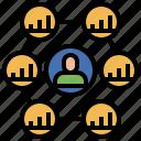 ecommerce, finance, incomes, marketingbusiness, passive, referral icon