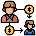 business, ecommerce, finance, incomes, money, passive, sponser icon
