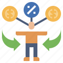 business, dividend, ecommerce, finance, incomes, passive icon