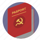 citizen, communism, identity, passport, person icon