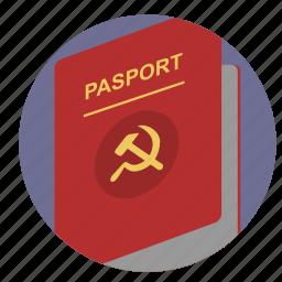 citizen, communism, identity, passport, person icon