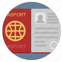 citizen, identity, open, passport icon