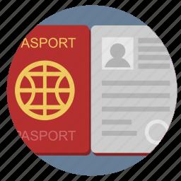 citizen, identity, open, passport icon