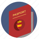 citizen, espana, pasport, spain icon