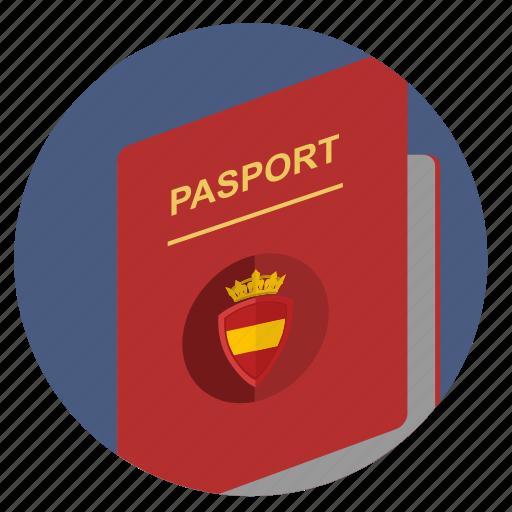 citizen, espana, pasport, spain icon