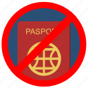 access, cancel, delete, passport, stop icon