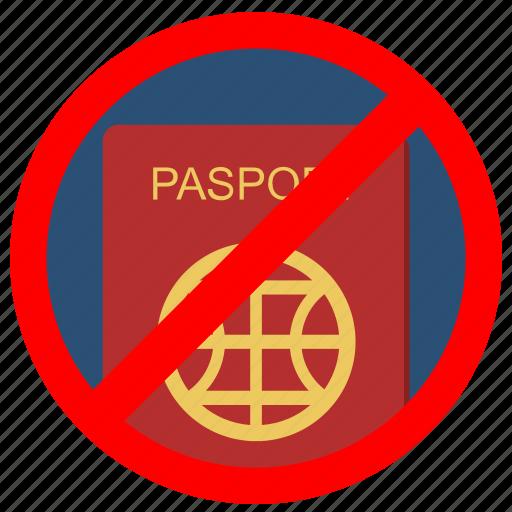 access, cancel, delete, passport, stop icon