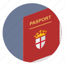 britain, citizen, england, passport icon