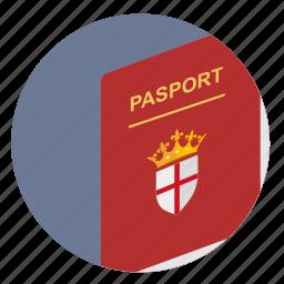 britain, citizen, england, passport icon