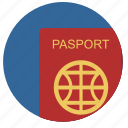 citizen, identity, passport, person icon