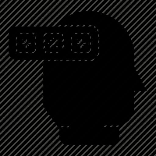Thinking, security, password, idea icon