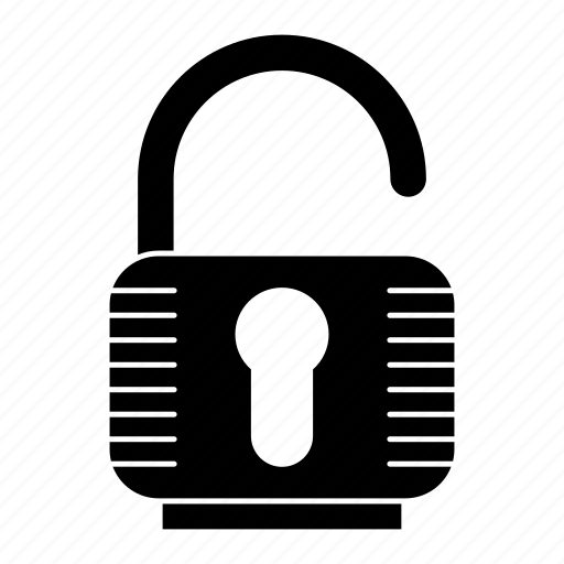 Padlock, security, password, unlock icon