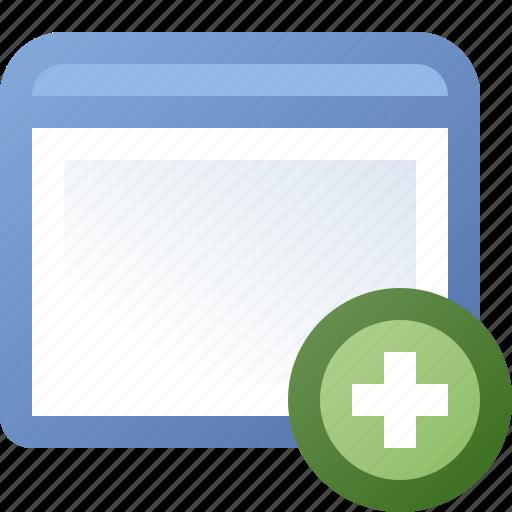 add, application, window icon