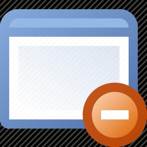 application, delete, window icon