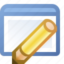 application, edit, window icon