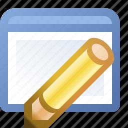 application, edit, window icon