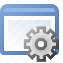 application, gear, window icon