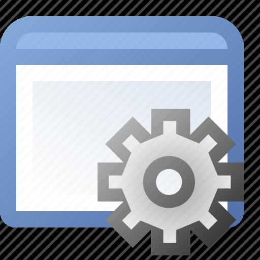 application, gear, window icon