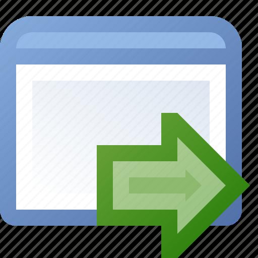 application, go, window icon