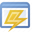 application, lightning, window icon