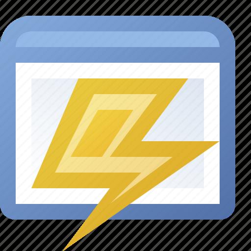 application, lightning, window icon