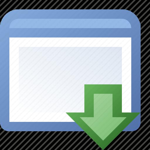 application, put, window icon