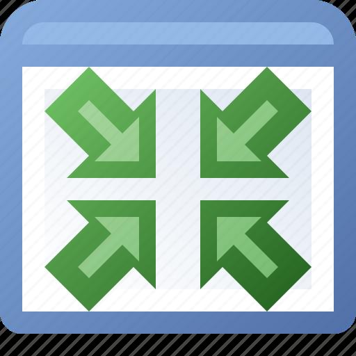 application, shrink, window icon