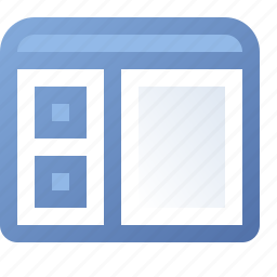 application, boxes, side, window icon