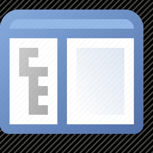 application, side, tree, window icon