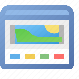 application, gallery, view, window icon