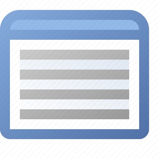 application, text, view, window icon