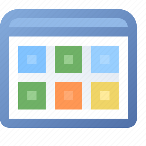 application, tile, view, window icon