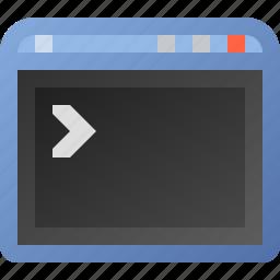 application, terminal, window, xp icon