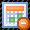 calendar, delete, date, event, schedule