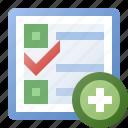 add, calendar, schedule, task icon