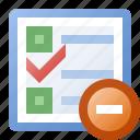 calendar, delete, schedule, task icon