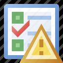 alert, error, schedule, task, warning icon