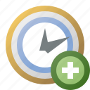 add, alarm, clock, schedule, time icon